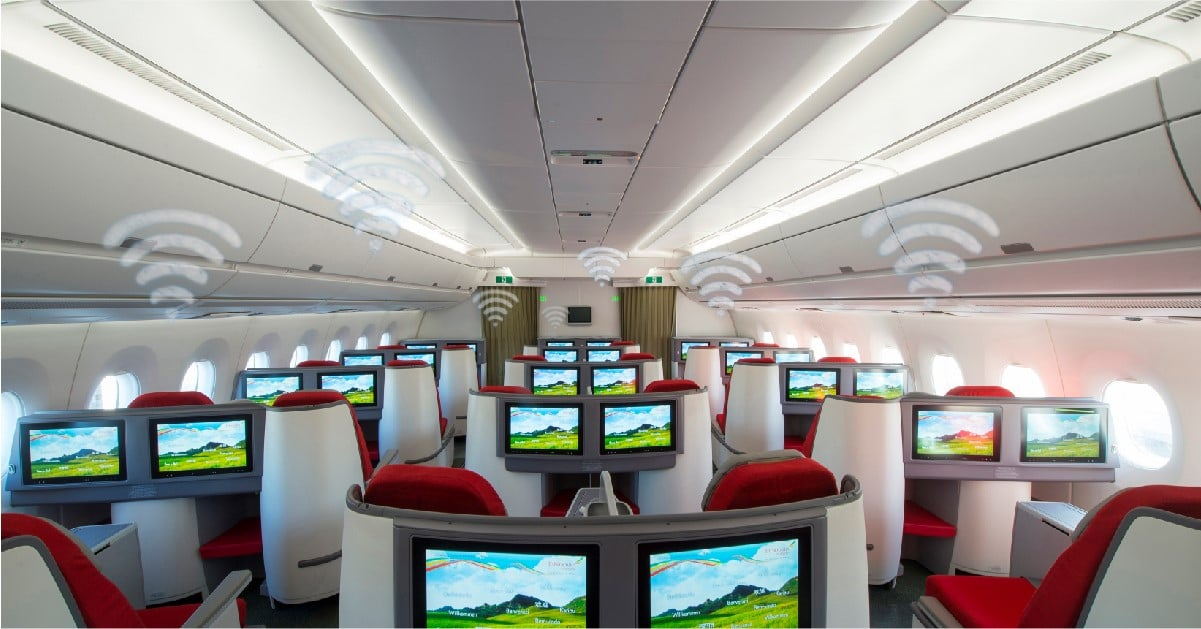 Ethiopian Airlines implementa WiFi a bordo con tecnologia satellitare